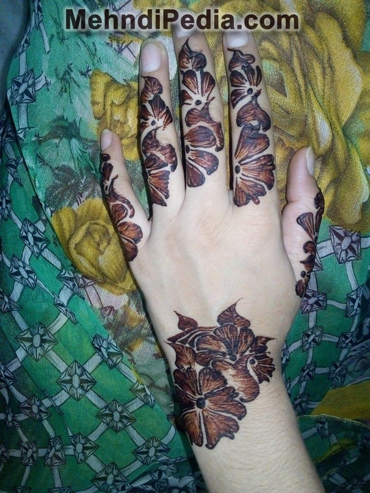 Arabic mehndi designs for left hand images - Mehndi Pedia