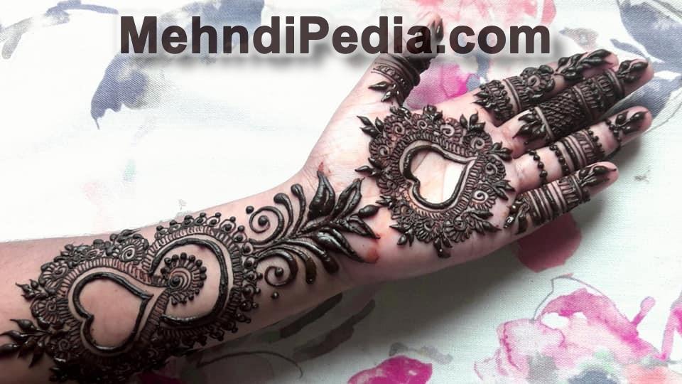 bridal mehndi designs for front hands
