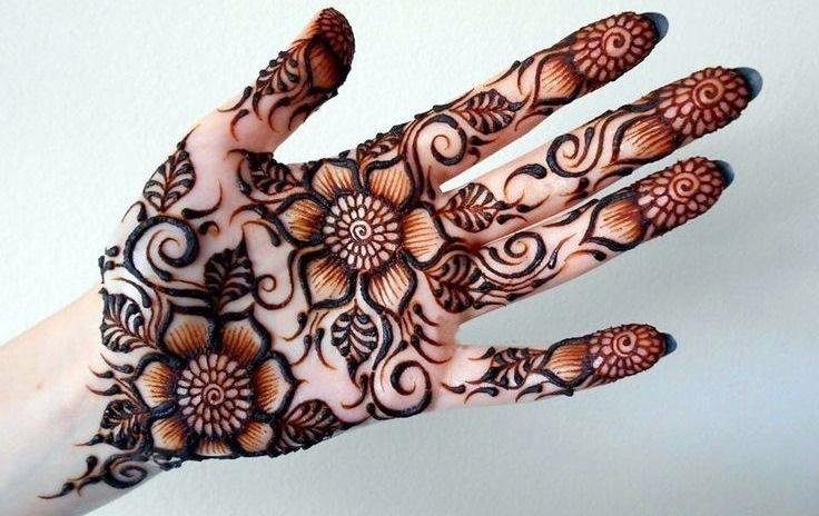 Easy Front Hand Mehndi Design For Left Hand Palm Mehndi Pedia