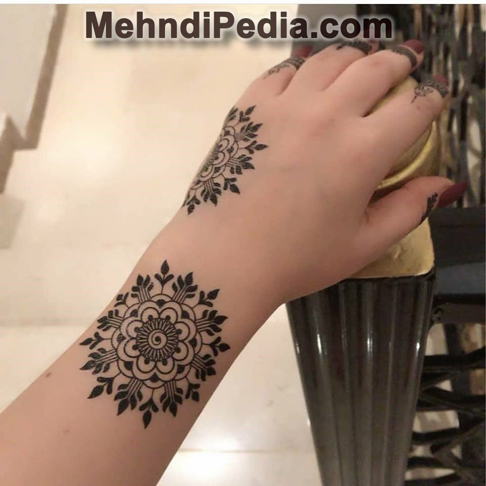 simple arabic mehndi designs for left hand back side