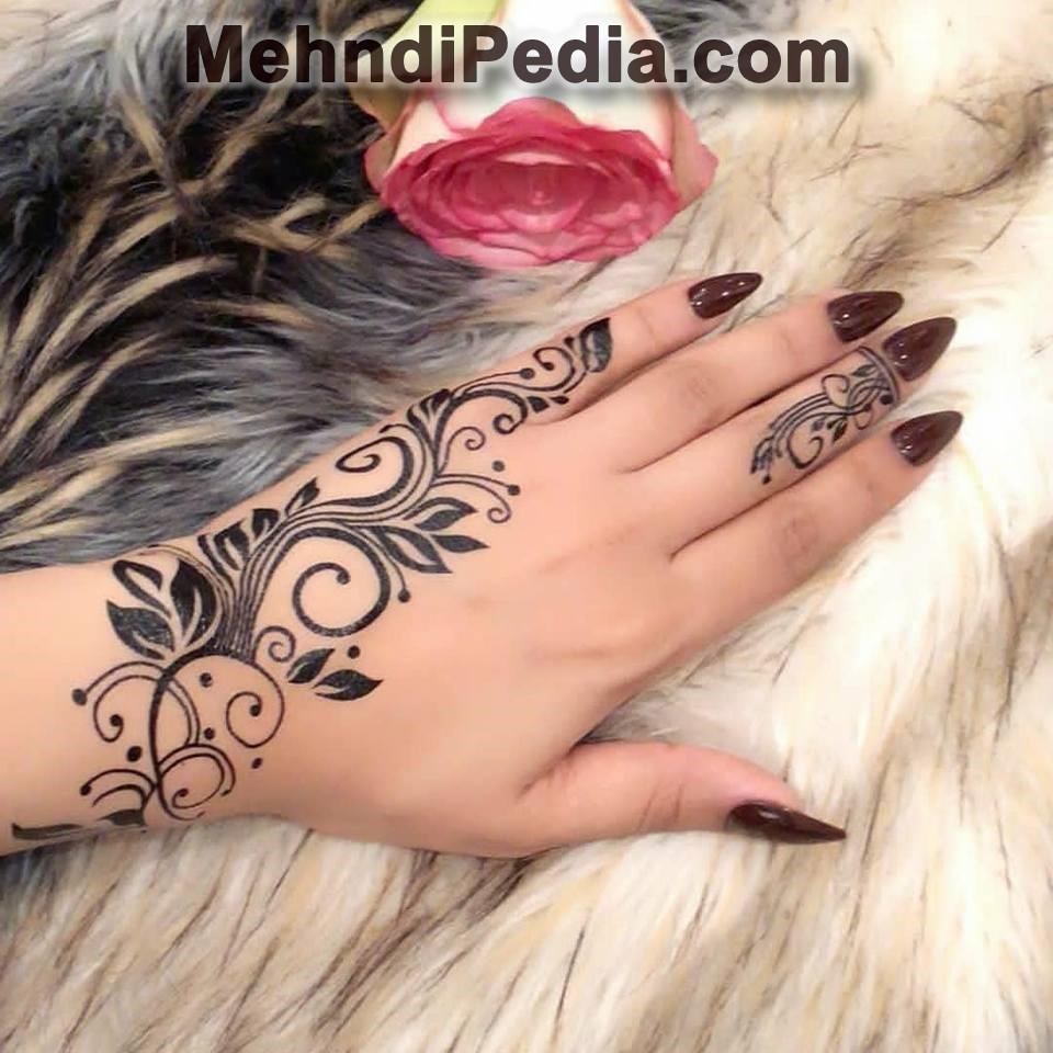 Simple Arabic Mehndi Designs For Left Hand Easy Art Mehndi