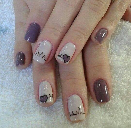 Color Block Nail Art Manicure simple