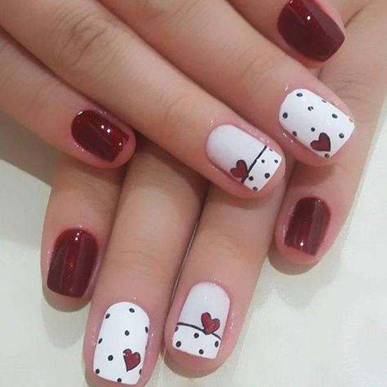 Pink And Silver Stripes Nail Art stylish