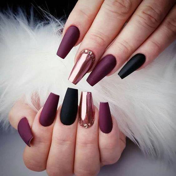 red colour nail designs stylish