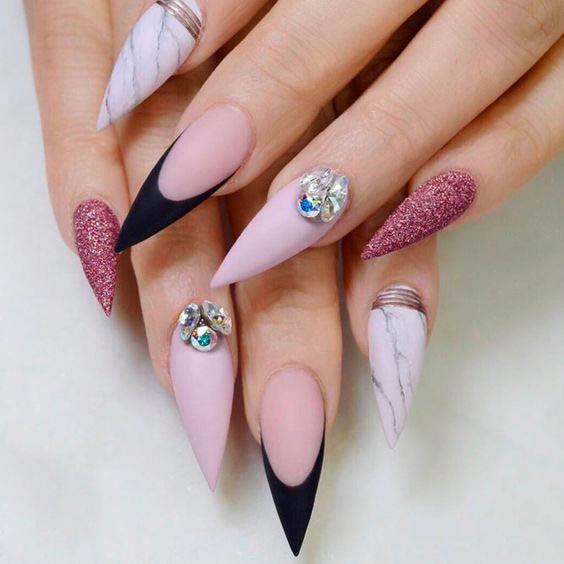 different colour nail art designs free