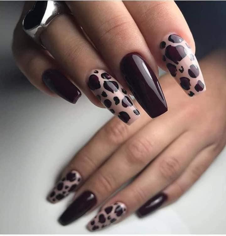 like tiger nail art style