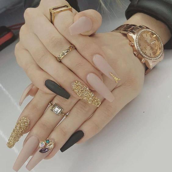 beautiful nail art on white hand nails
